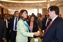Vicepresidenta de la República, Martha Lucía Ramírez, da la bienvenida al Superintendente Orlando A. Clavijo Clavijo, en el Día Internacional de la Lucha contra la Corrupción